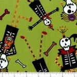 Halloween Fabric Dem Bones ..