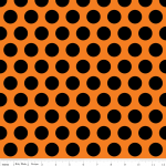 Black Polka Dot on Orange F..