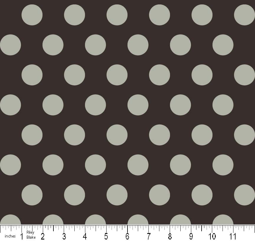 Gray Dot Fabric from Riley Blake Boo to You Halloween Fabric 1 Yard