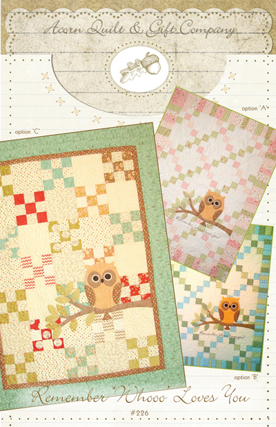 Remember Whoooo Loves You Quilt Pattern Easy and Fun to Make