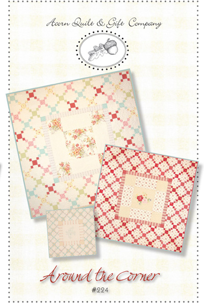 Around the Corner Charm Square Quilt Pattern