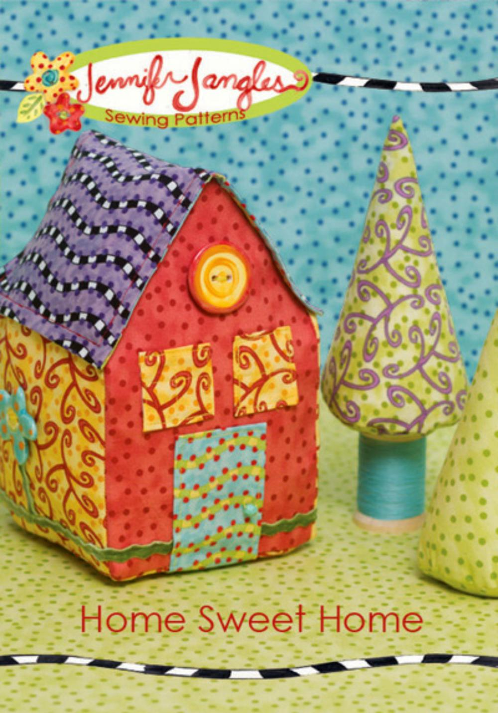 New Home Sweet Home Pattern by Jennifer Jangles Bright and Fun!