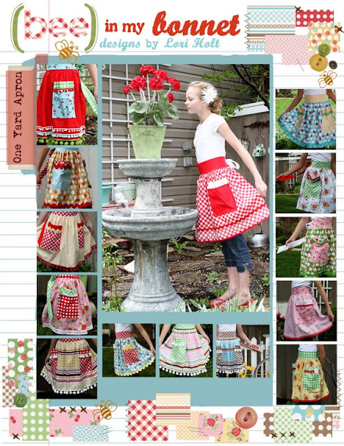 One Yard Apron Pattern from Bee in my Bonnet