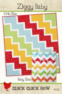 New Ziggy Baby Quilt Pattern by Cluck Cluck Sew! Two Patterns in One