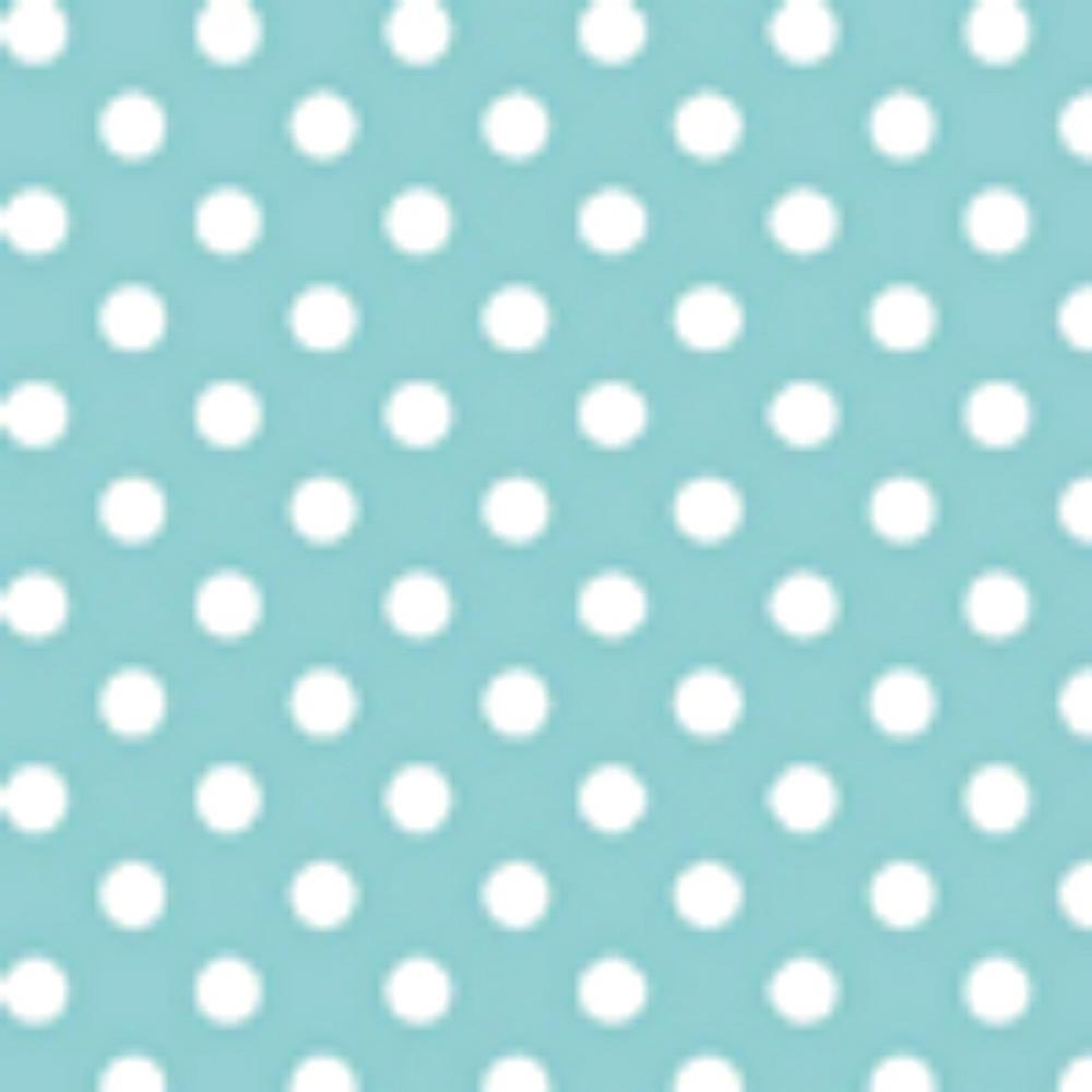 Aqua and White Polka Dot Flannel Fabric from Michael Miller 1 Yard