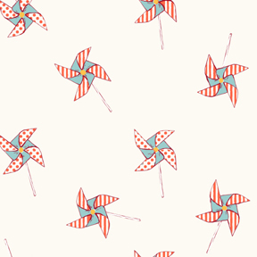 Pinwheels Flannel Fabric from Michael Miller