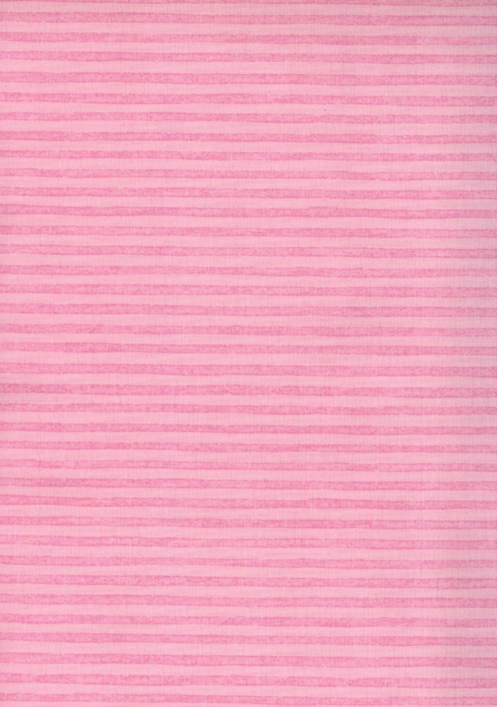 Pink Bunny Stripe Fabric by Bunnies by the Bay